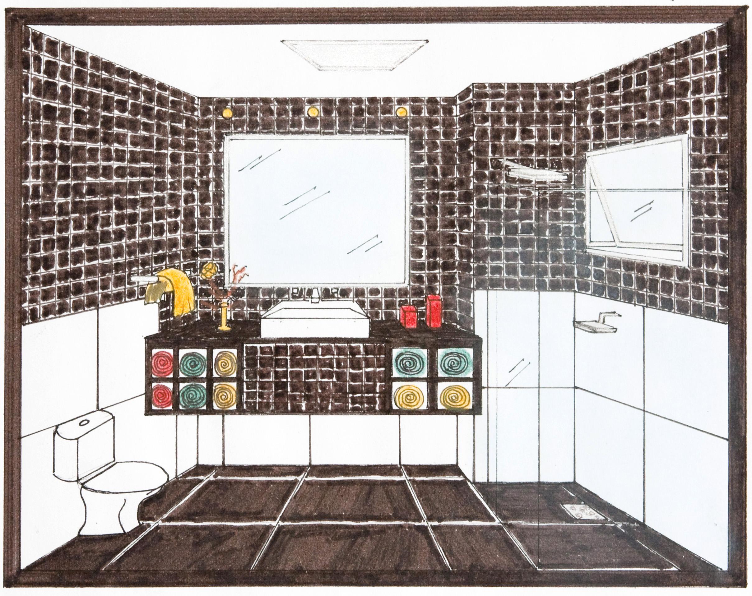 Banheiro Casal #C38E08 2418 1917